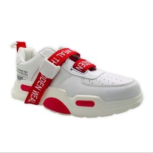Fashion Men's Sneakers Color White and Red